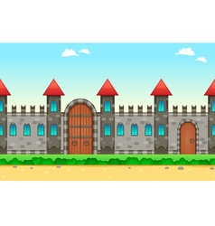 Repeateble castle on the sides vector