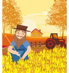 Harvest in a sunny day vector