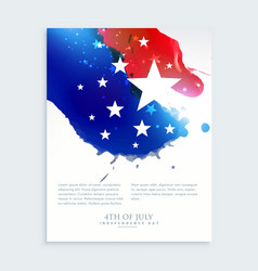 american 4th of july flyer design vector image vector image