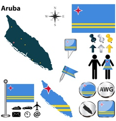 Aruba map vector