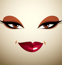 Attractive woman with stylish bright make-up Sexy vector image