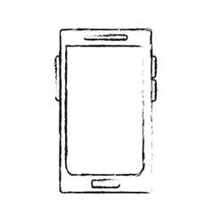 Blurred silhouette tech voice recorder icon vector