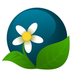 Chamomile logo vector image