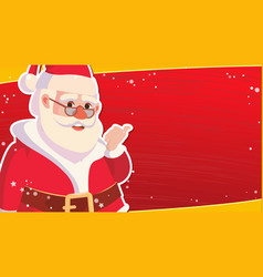 christmas sale banner template with classic xmas vector image vector image