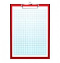 clip board graph paper vector image