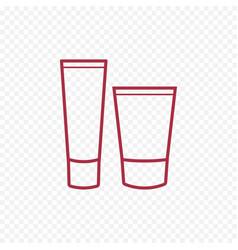 cosmetic body cream icon vector image