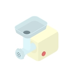 Electric meat grinder icon cartoon style vector