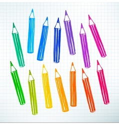 Felt pen drawing of pencils vector image vector image