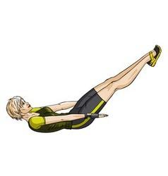 Fitness press vector image