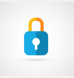Flat icon of padlock vector