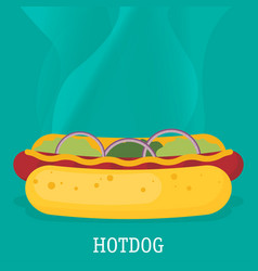 hotdog icon great for any use eps10 vector image vector image
