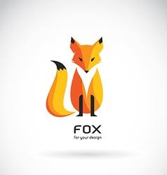 Image of a fox design vector image