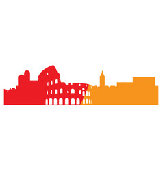 Isolated cityscape of rome vector