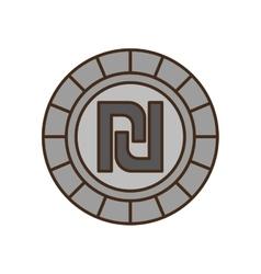 Israeli shekel isolated icon vector image