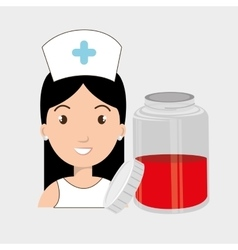 Nurse crooss smartphone graphic vector