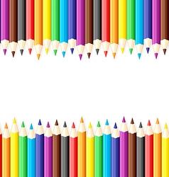 pencil back vector image
