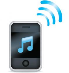 phone music vector image