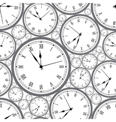 Seamless pattern with watches Stylish texture vector image vector image
