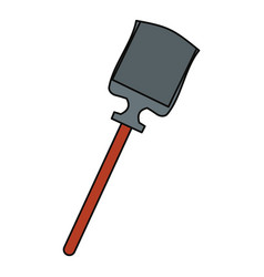 Shovel tool isolated vector