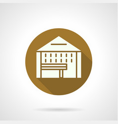 Tasting tent flat round icon vector