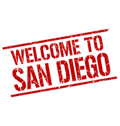 Welcome to san diego stamp vector