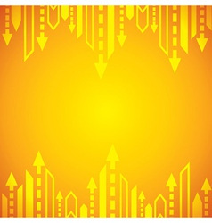 Yellow arrow background vector image vector image