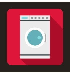 Washing machine icon flat style vector