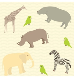 Seamless african animals pattern vector