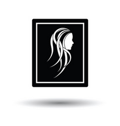 Portrait art icon vector