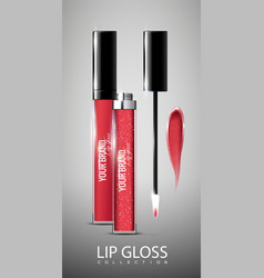 Realistic lip glosses collection vector