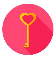 Love key circle icon vector