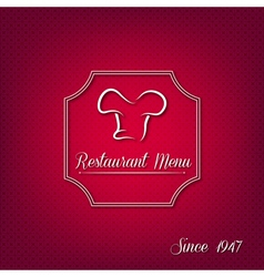 Abstract restaurant menu cover vector image