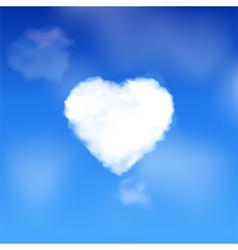 Heart cloud in a blue sky vector