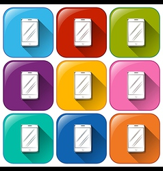 Cellular phone icons vector