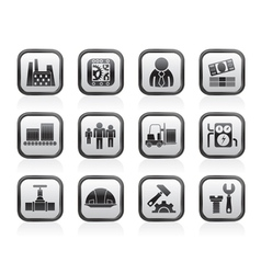 Factory and mill icons vector