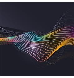 Smoke pattern on dark background vector