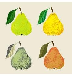 A pear fruits vector