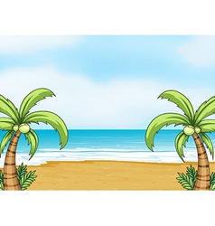 A sea shore vector image vector image