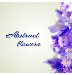 Abstract artistic Background with purple floral vector image vector image