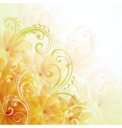 Artistic flowers background vector image vector image