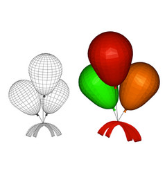 balloons with a bow vector image vector image