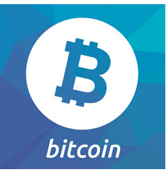 bitcoin blockchain criptocurrency logo vector image vector image