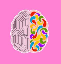 Brain metaphor is an engineering and creative mind vector