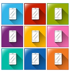 Buttons with cellular phones vector