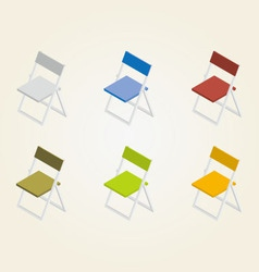 chairs in color vector image