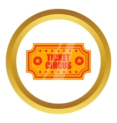 Circus show paper tickets icon vector image vector image