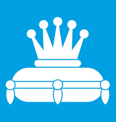 Crown king icon white vector