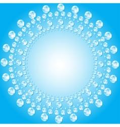 diamond border vector image