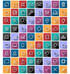 Flat Line Icons vector image