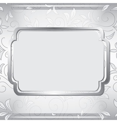 gray frame on floral background vector image vector image